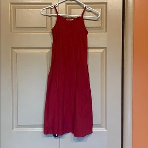Red dress that fits like an XS
